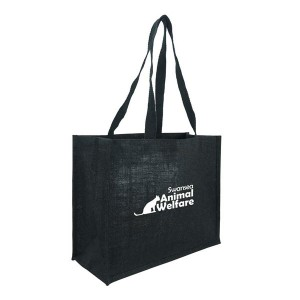 Green & Good Black Melrose Jute Shopper