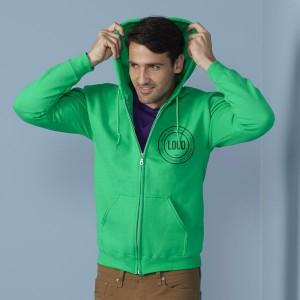 Gildan Adult Full Zip Hooded Sweatshirt