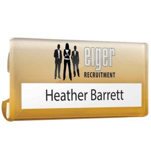 Acrylic Name Window Badge