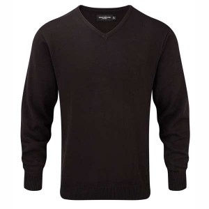 Russell Collection V-Neck Knitted Pullover