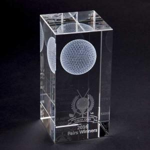 Crystal Cube Golf Award