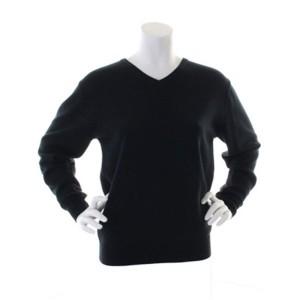 Kustom Kit ladies Arundel Long Sleeve V-Neck Sweatshirt