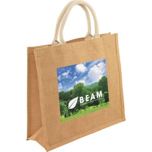 Medium Jute Shopper - Full Colour