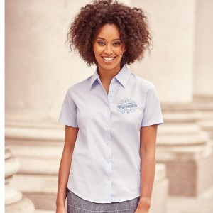 Russell Collection Ladies Oxford Shirt