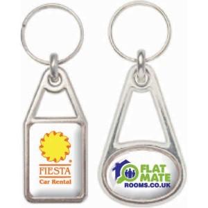 Metal Domed Key Ring
