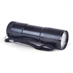 Metal 9 LED Torch