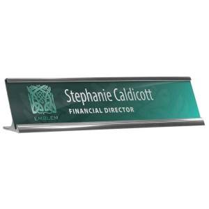 Reusable Desk Nameplate Holder & Insert