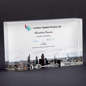 125 x 75mm Optical Crystal Rectangle