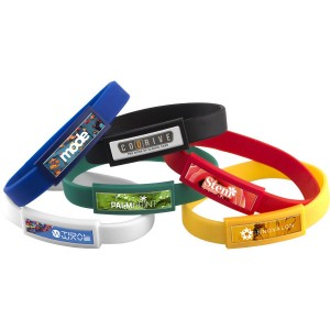 Domed Silicone Wristband