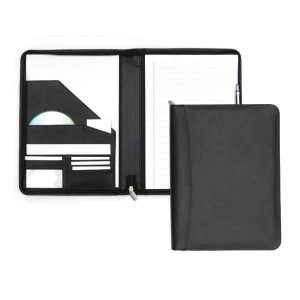 Melbourne Nappa Zipped Leather Conference Folder