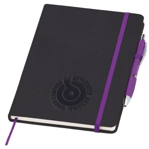 Medium Noir Notebook with Curvy Pen