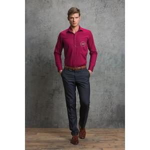Kustom Kit Mens L/S Poplin Shirt