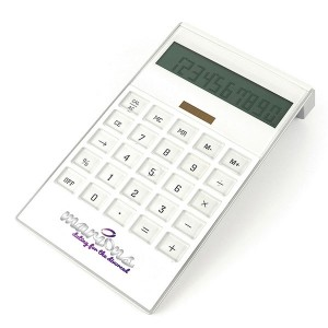 Large White Desk Calculator - Full Colour