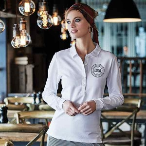 Tee Jays Ladies Long Sleeve Luxury Stretch Fashion Polo