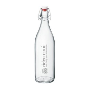 Flip Top Glass Bottle