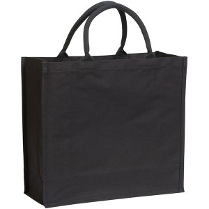Black Broomfield 7oz Laminated Cotton Tote Bag