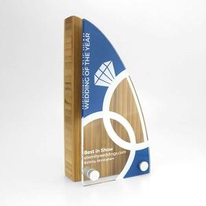 Bamboo Block Award with Acrylic Face Plate