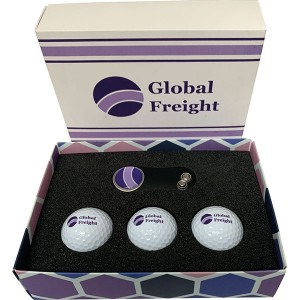 Card Gift Box - Golf Balls & Divot Tool