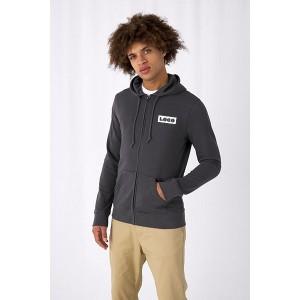 B&C Mens Organic Zipped Hood