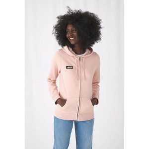 B&C Womens Organic Zipped Hood