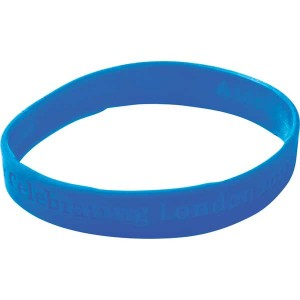 Recessed Silicone Wristband