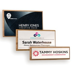 Wood Framed Name Badges