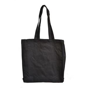 Black 10oz Canvas Cotton Shopper