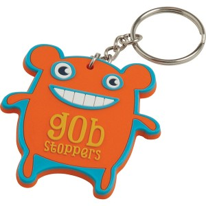 40mm Bespoke Moulded Soft PVC Key Ring