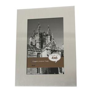 6 x 4Inch Brushed Aluminium Photo Frame