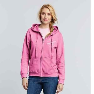 Gildan Ladies Full Zip Hooded Sweatshirt