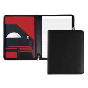 Malvern Smooth Zipped Leather A4 Conference Folder