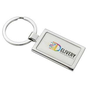 Domed Metal Key Ring