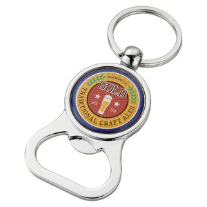 Domed Bottle Opener Key Ring