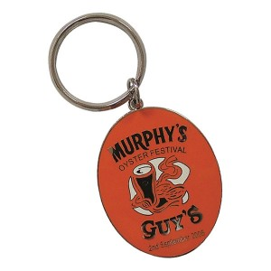 30mm Hard Enamel Key Ring