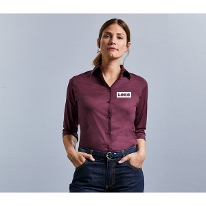 Russell Collection Ladies 3/4 Sleeve Shirt