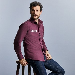 Russell Collection L/Sleeve Fitted Shirt