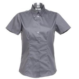 Kustom Kit Ladies Short Sleeve Corporate Oxford Shirt