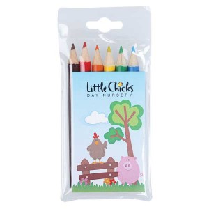 Pack of 6 Half Length Colouring Pencils